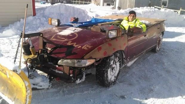 James Macdonald's video of Cape Breton's 'redneck' snowplow is going viral on social media.