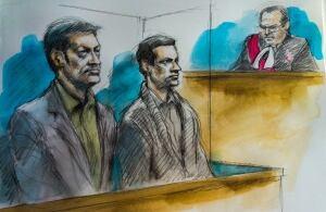 Dellen Millard Mark Smich court sketch
