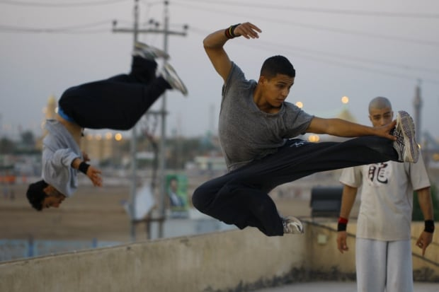 Parkour in Najaf Iraq May 2014