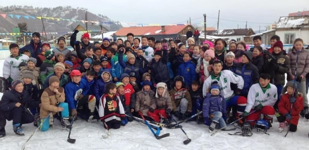 Mongolian hockey team photo