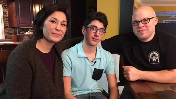 Bernice Clarke, Simon Kootoo-Reist and Justin Clarke. Bernice Clarke says she was lucky to give birth to Simon in Ottawa, where he was screened for hearing loss and found to be deaf. 'Everything had to be taken care of in Ottawa for testing, for support, for anything. There was nothing here in Iqaluit, absolutely zero.'