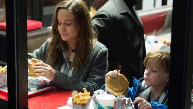 Brie Larson, left, and Jacob Tremblay appear in a scene from the film Room, based on the novel and screenplay by Emma Donoghue.