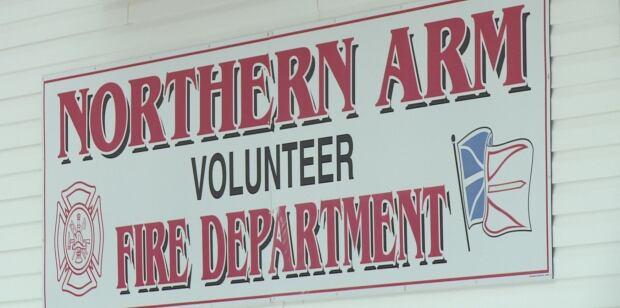 Northern Arm volunteer fire department sign