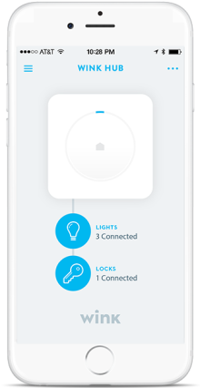 Wink hub on iPhone