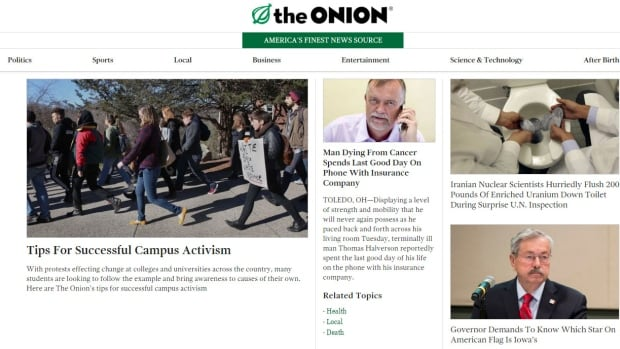 """Univision has bought a """"big chunk"""" of The Onion, the satirical news website with a young following."""