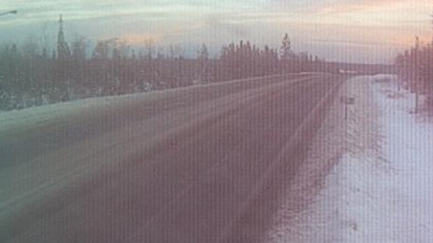 This webcam image, taken at 8:04 a.m. on Tuesday, shows the conditions near the site of the crash on Highway 97.