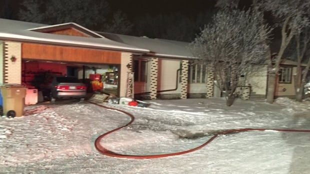 Fire crews were called to this home in the 200 block of Litzenberger Cres., early Wednesday morning.