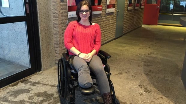 Krystal Hiscock lost the bottom half of her right leg in December because of a genetic disorder called neurofibromatosis.