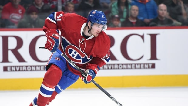 Canadiens forward Paul Byron left Tuesday's game against the Bruins early after sustaining a lower-body injury and will be sidelined one week. Byron, who has eight goals and 19 points in 35 games for Montreal this season, leads the NHL in short-handed points with five.