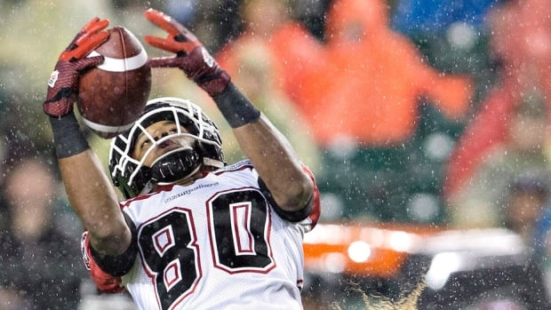 Former Stampeders receiver Eric Rogers has signed on with the NFL's San Francisco 49ers after leading the CFL in 2015 with 1,448 receiving yards and had 87 receptions and 10 touchdowns. Calgary released Rogers, who was scheduled to become a free agent on Feb. 9, earlier Wednesday so he could make the move.