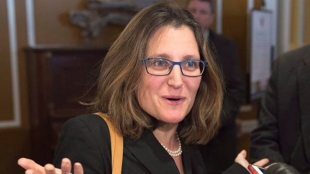 Trade Minister Chrystia Freeland says getting U.S. President Barack Obama to view the softwood lumber dispute with some urgency is 'tremendous.'