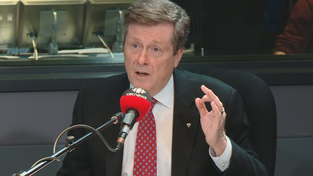 Toronto mayor John Tory unveiled his revised transit plan for Scarborough at a news conference Thursday afternoon.
