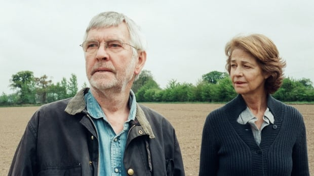 British actor Charlotte Rampling, seen with her 45 Years co-star Tom Courtenay, called the uproar over yet another year with an all-white slate of acting nominees for the Oscars 'racist to whites.'