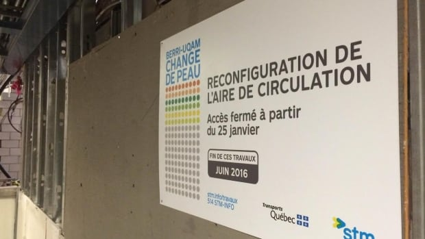 The STM says the next phase of work at the Berri-UQAM Metro station will take six months to complete and will affect Metro users.