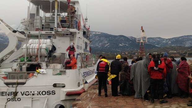 Volunteer David Ang took this photo of a group of refugees arriving on Lesbos on Jan. 20 before realizing that one of the passengers, a 3-year-old Syrian boy, died of hypothermia.