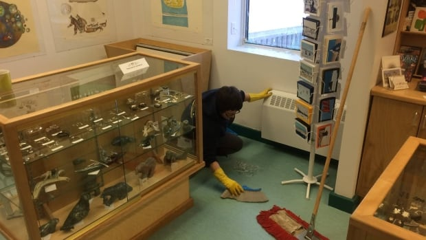 Staff at the Nunatta Sunakkutaangit Museum in Iqaluit are cleaning up after someone broke into the building Wednesday and stole $10,000 worth of Inuit art.