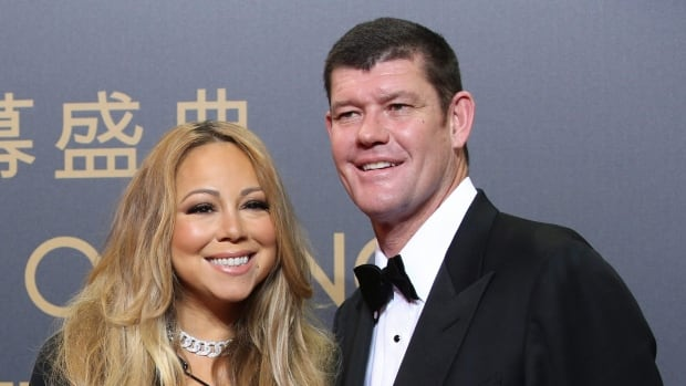Casino mogul James Packer is seen with singer Mariah Carey at the opening ceremony for the Studio City project in Macau in late October. The globe-trotting duo are now engaged, according to reports.