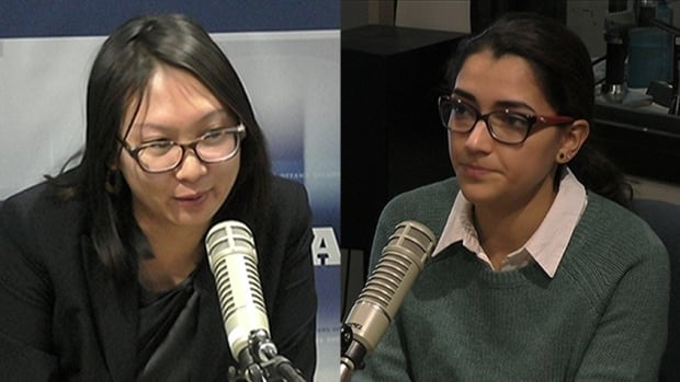 Olivia Tran, left, and Tara Matar, right, are part of the team behind Roofs 4 Refugees.