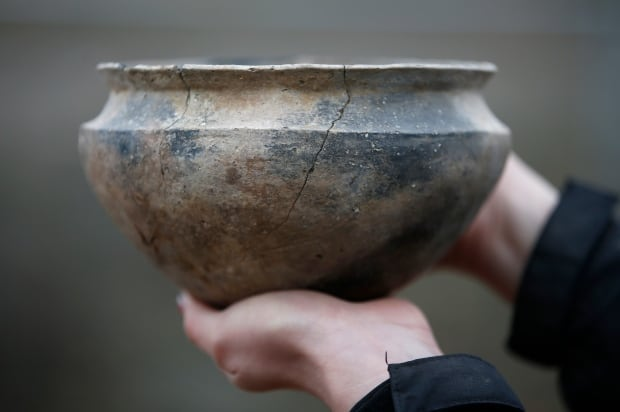 Bronze age discovery vase