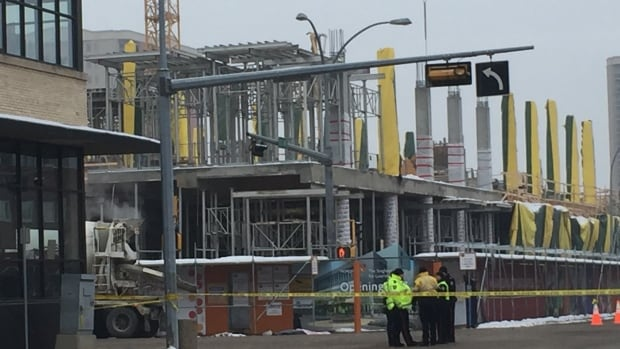 A 49-year-old woman is dead after being struck by a cement truck in downtown Edmonton Friday. She is the city's second traffic fatality of 2016.