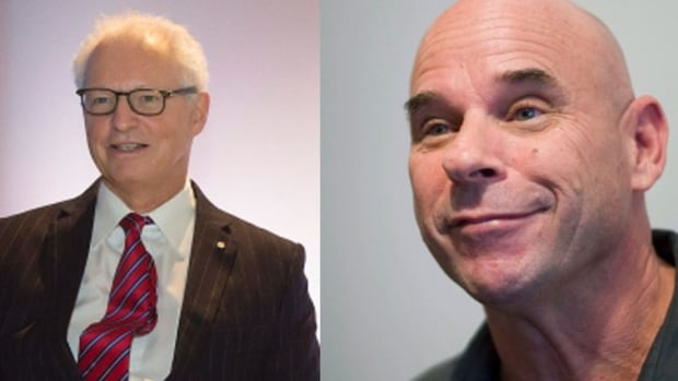 Andre Desmarais, left, is backing the DCDLS bid for Lebreton Flats and Guy Laliberté, right is said to be backing the bid. They are Quebec-based billionaires.