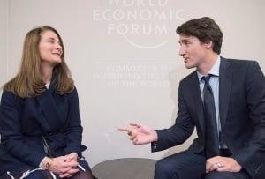 Trudeau and Melinda Gates in Davos