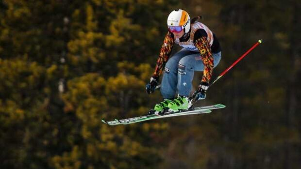 Canada's Marielle Thompson skis during women's qualifications for the World Cup ski cross event in Nakiska, Alta., Friday.