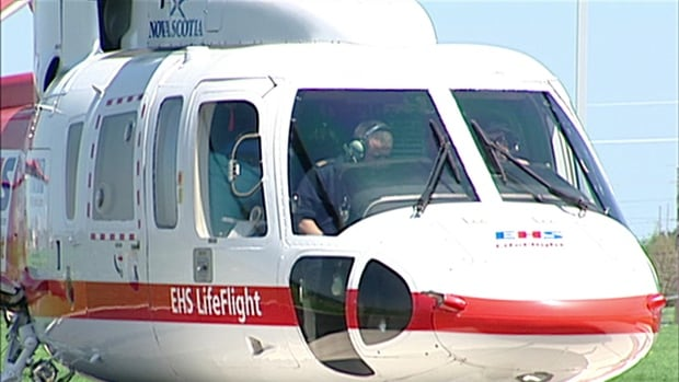 With no night time flights allowed to land on the helipad at the Prince County Hospital in Summerside, EHS LifeFlight is landing at the Slemon Park air strip.