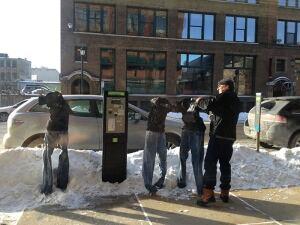 Frozen pants in Minneapolis