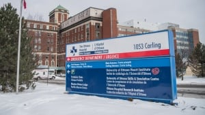 ottawa hospital carling avenue emergency department exterior shot