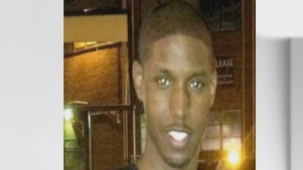 Ibrahim Abukar, 22, was shot and killed at a Mississauga home during an alleged home invasion in 2012. Jason Hamilton, 42, of Mississauga, turned himself in an faces a charge of manslaughter in connection with Abukar's death.