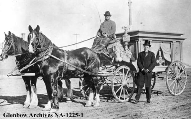 An early Calgary hearse