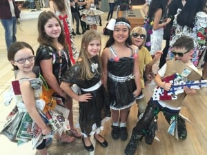 Bruce Middle Schoolers at Take Pride Winnipeg recycled fashion show