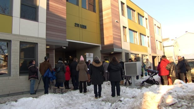 Ottawa Community Housing debuted the rebuilt Hayley Court townhouse complex Saturday — more than two years after the original complex burned to the ground.