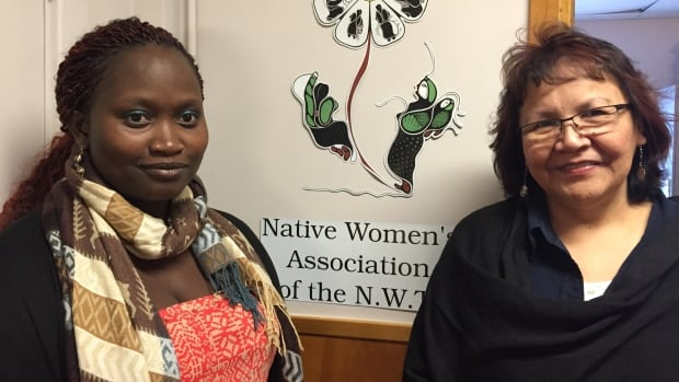 'A client came in she was choked to the point where she was passed out and what she said was that he choked me until I fell asleep,' said Hawa Dumbuya (left), program coordinator with the Yellowknife Victim Services.
