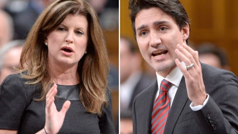Opposition Leader Rona Ambrose and Prime Minister Justin Trudeau