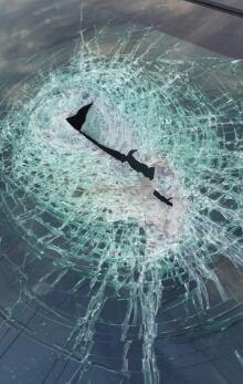 windshield hole