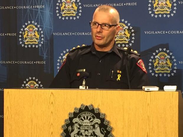 Calgary police Duty Insp. Peter Siegenthaler