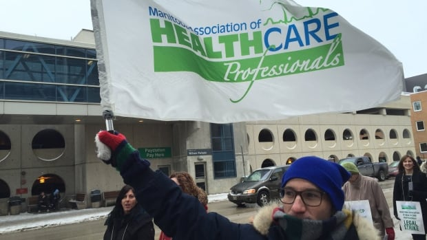Members and supporters of the Manitoba Association of Health Care Professionals union were out picketing in front of the Health Sciences Centre Monday morning. The union says its members are prepared to strike if the province doesn't offer them a fair contract by the end of the month.
