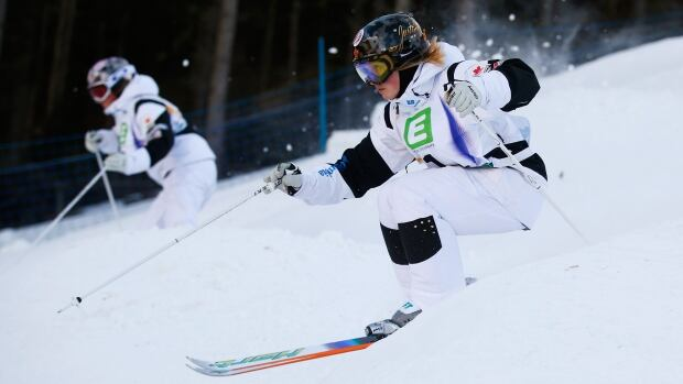 Canada's Justine Dufour-Lapointe and Chloe Dufour-Lapointe are always a threat to reach the podium in women's moguls.