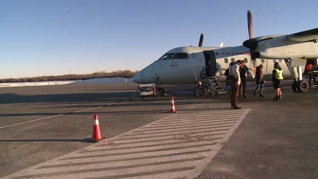 Passengers disembarking a flight at the Bathurst Regional Airport, which has seen an increase in ridership.