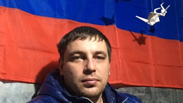 Anton Zagainov is one of several truck drivers who have parked their rigs on the outskirts of Moscow in protest against a new road tax they say will make it even harder for them to earn a living and support their families in an already dire economic climate.
