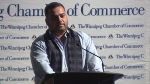 Khalid at Winnipeg Chamber of Commerce luncheon
