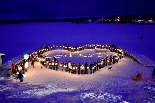 stanley mission la loche tribute candlelight vigil