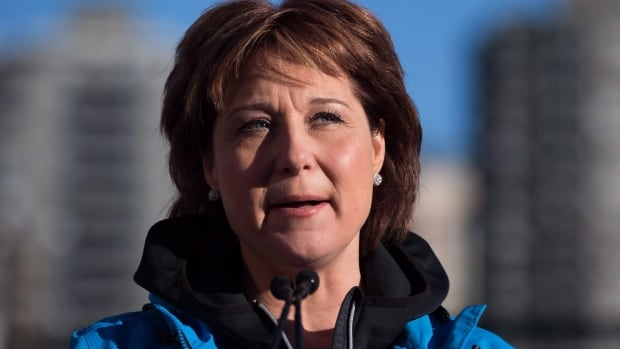 B.C. Premier Christy Clark calls opponents of LNG and the TPP 'the forces of No.'