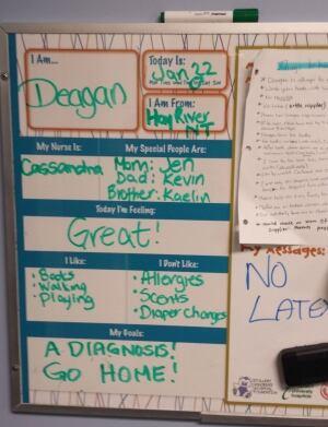 Deagan's hospital chart