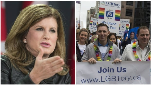 Interim Conservative Leader Rona Ambrose says she would back a motion to strike down the party's ban on same-sex marriage, if it's approved for discussion at the upcoming national convention in Vancouver. LGBTory, a group of gay, lesbian, bisexual and transgender Conservatives, is pushing for the policy shift.
