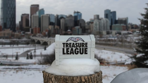 The Treasure League, which involves following clues to a treasure chest somewhere in the city, will kick off in Calgary on Feb. 1.