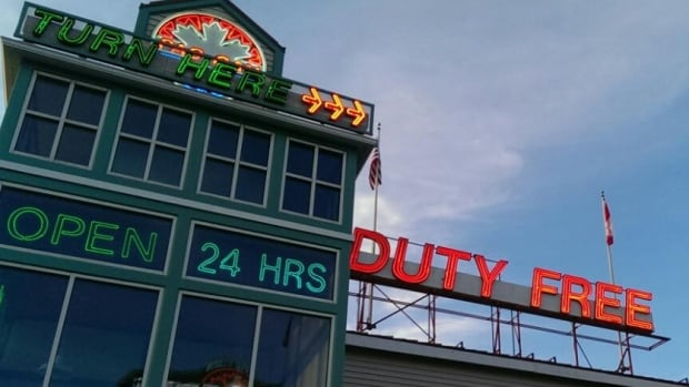 Pac Can Duty Free at the U.S.-Canada border crossing in Blaine, Wash., is offering Canadian shoppers an extra 20 cents on the dollar in order to drum up business.