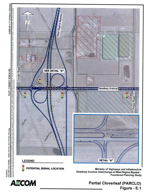 Ministry of Highways interchange plan